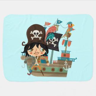 Pirat und Piraten-Schiff Kinderwagendecke