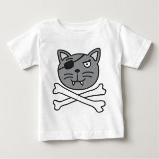 pirate cat and bones baby t-shirt
