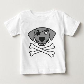pirate dog and bones baby t-shirt
