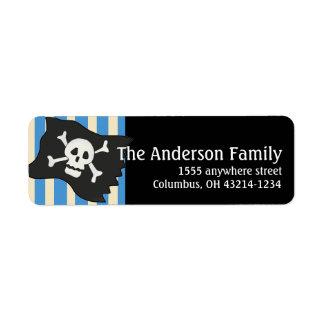 Pirate Skull Pirate Flag Return Address Labels