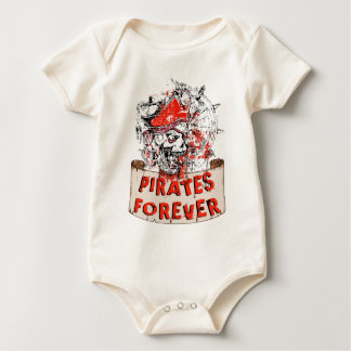 pirate skull pirates forever baby strampler