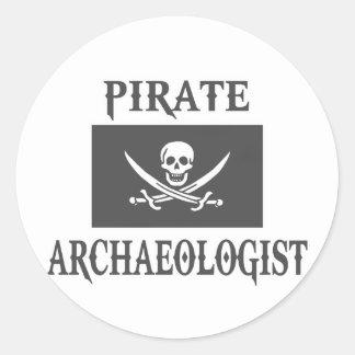 Piraten-Archäologe Runder Aufkleber