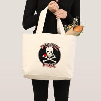 Piraten-Braut-Taschen-Tasche Jumbo Stoffbeutel