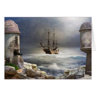 Piraten-Bucht-Gruß-Karte Karte