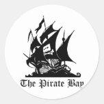 Piraten-Bucht, illegale Strom-Internet-Piraterie Runde Aufkleber