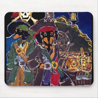 Piraten-Dackeln Mousepad