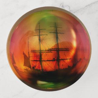 Piraten des karibischen runden Trinket-Behälters Dekoschale