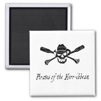 """Piraten des Kerr-ibbean"" Magnet Quadratischer Magnet"