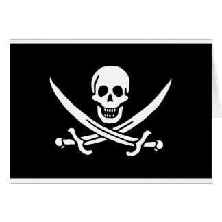 Piraten-Flagge des Gestells Rackham Karten