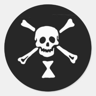 Piraten-Flagge Emanuel Wynne Runder Aufkleber