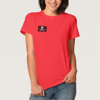 Piraten-Flaggen-gesticktes Shirt