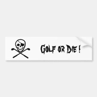Piraten-Flaggen-Golf oder die Autoaufkleber