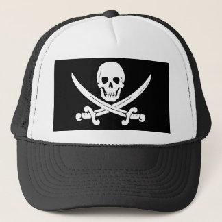 Piraten-Flaggen-Schädel und Truckerkappe