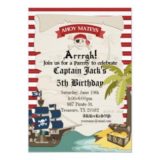 Piraten-Geburtstags-Einladung Karte