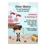 Piraten-Geburtstags-Einladungen
