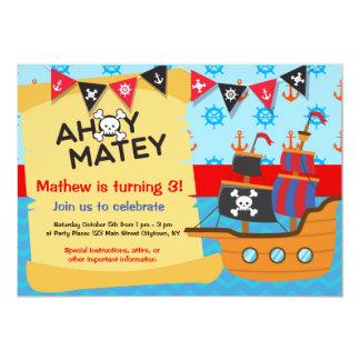 Piraten-Geburtstags-Party, ahoi kameradschaftlich Karte