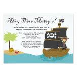 Piraten-Geburtstags-Party Einladung des Jungen des