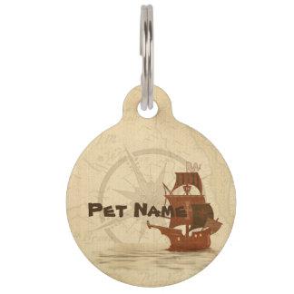 Piraten-Geheimnis-Schiff Tiernamensmarke