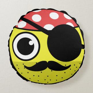Piraten-Gesicht Rundes Kissen