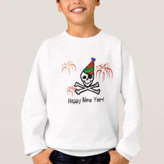 Piraten-guten Rutsch ins Neue Jahr-Sweatshirt Sweatshirt