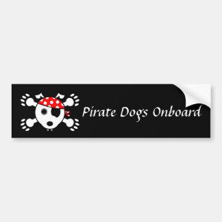 Piraten-Hunde (Plural) Autoaufkleber