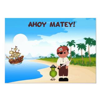 Piraten-Jungen-Geburtstags-Einladungen