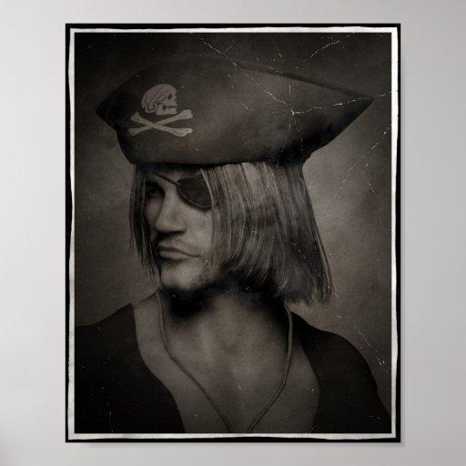 Piraten-Kapitän Portrait - antiker Effekt Posterdrucke