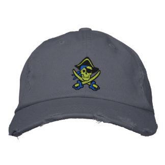 Piraten-Kapitän Skull Embroidered Cap Baseballmütze