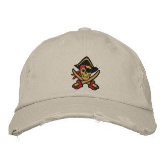 Piraten-Kapitän Skull Embroidered Cap Bestickte Baseballkappe