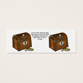 Piraten-Kasten-Spiel-Stücke Mini Visitenkarte