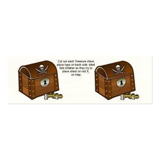 Piraten-Kasten-Spiel-Stücke Mini-Visitenkarten