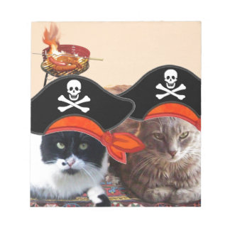PIRATEN-KATZEN, Gespräch wie ein Piraten-Tag Notizblock