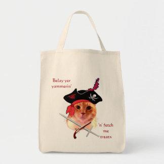 Piraten-Katzen-Lebensmittelgeschäft-Tasche Tragetasche