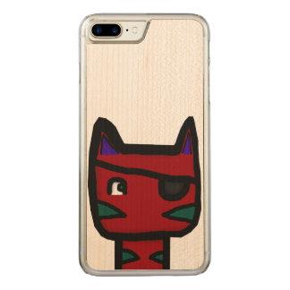 Piraten-Katzen-Telefon Carved iPhone 8 Plus/7 Plus Hülle