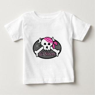 Piraten-kleine Schwester Baby T-shirt