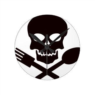 Piraten-Koch Runde Wanduhr