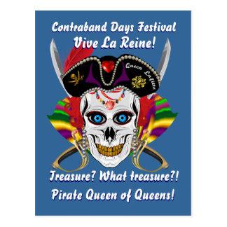 Piraten-Königin-Änderungs-Daten gefallen ansehen Postkarte