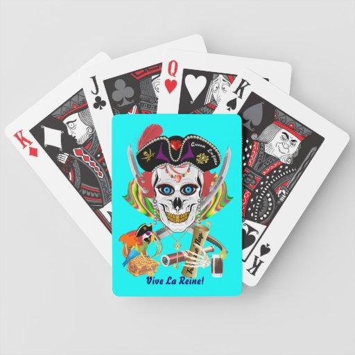 Piraten-Königin Lafitte alle Art-Ansicht-Andeutung Spielkarten