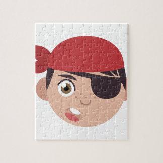 Piraten-Kopf Puzzle
