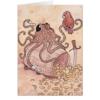 Piraten-Krake Grußkarte