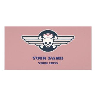 Piraten-Krankenschwester Wings III Foto Grußkarte
