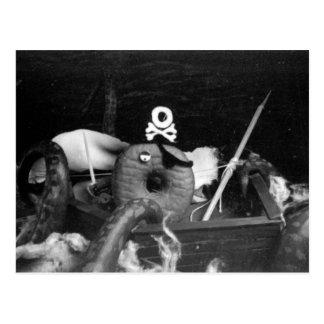 Piraten-Krapfen Postkarte