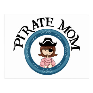 Piraten-Mamma Postkarte