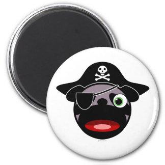 Piraten-Mopsmagnet Kühlschrankmagnete