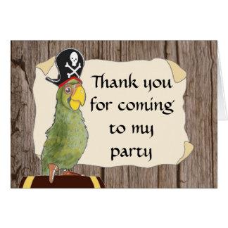Piraten-Party danken Ihnen zu kardieren Karte