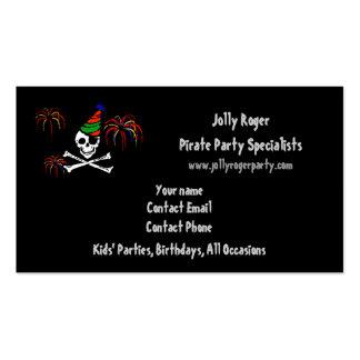 Piraten-Party-Geschäfts-Karten-Schablone Visitenkarte