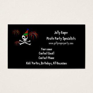 Piraten-Party-Geschäfts-Karten-Schablone Visitenkarten