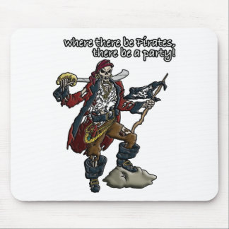 Piraten-Party Mousepads