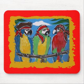 Piraten-Party-Papageien Mauspads