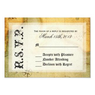 Piraten-Party UAWG auf antiker Karte 8,9 X 12,7 Cm Einladungskarte